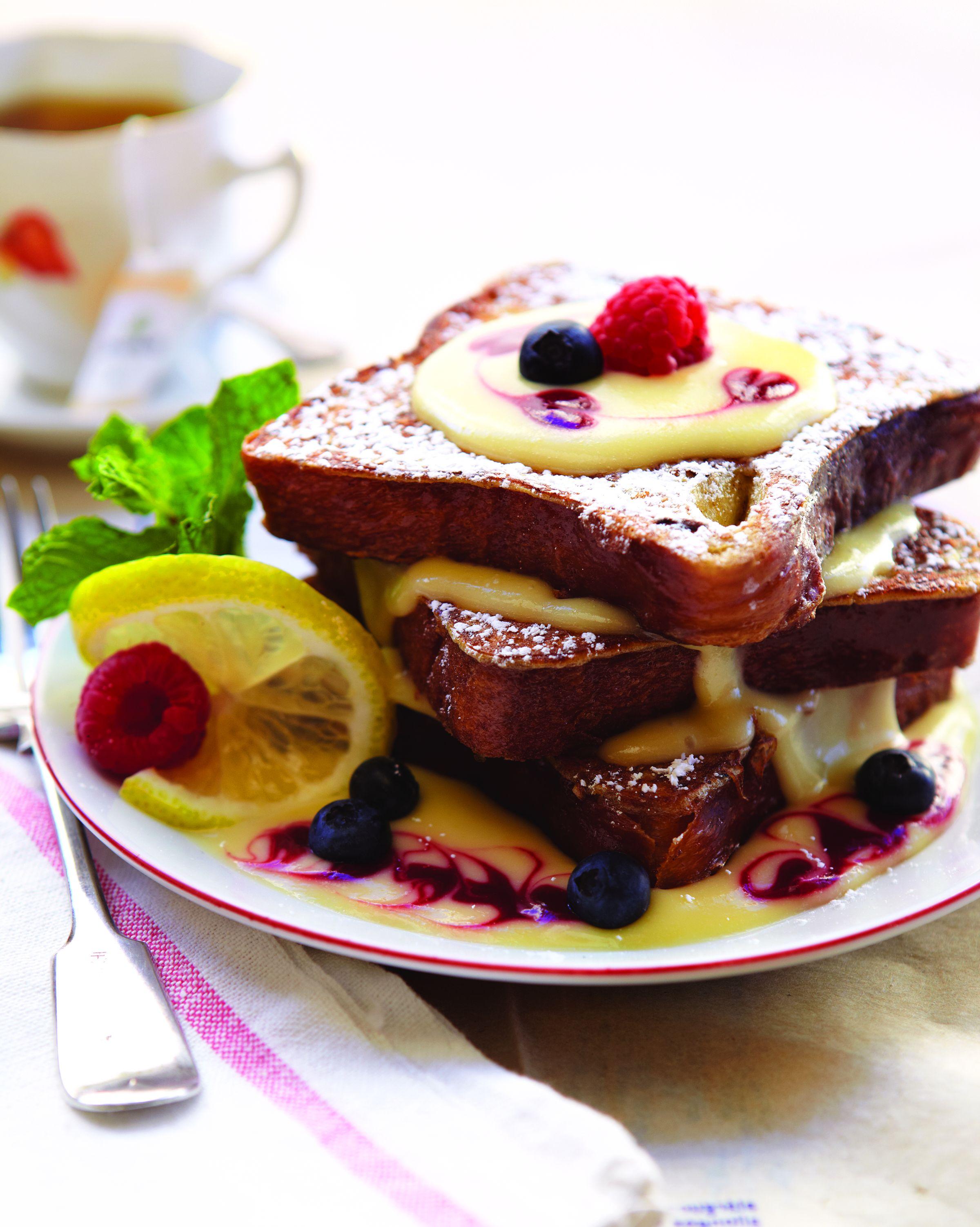 lemon raspberry brioche french toast