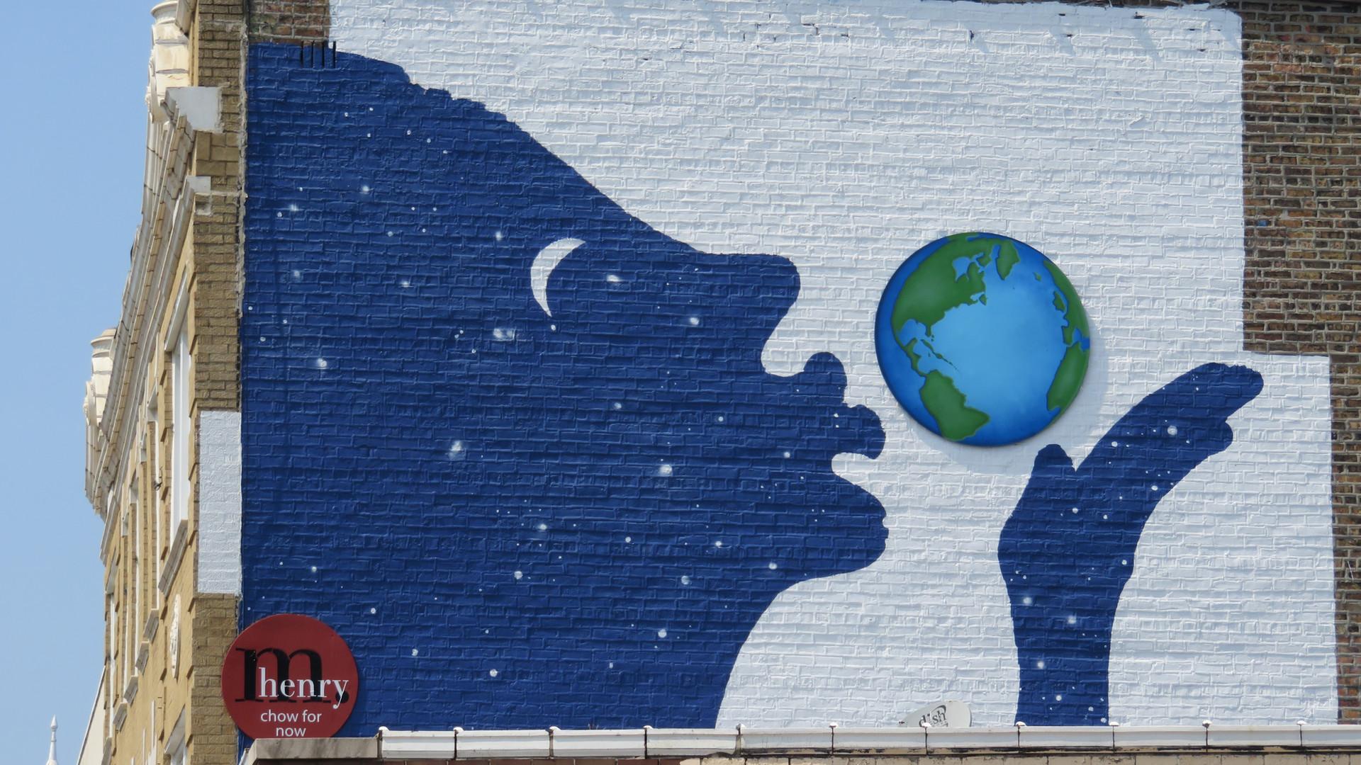 love the earth mural