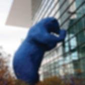 Blue Bear Statue