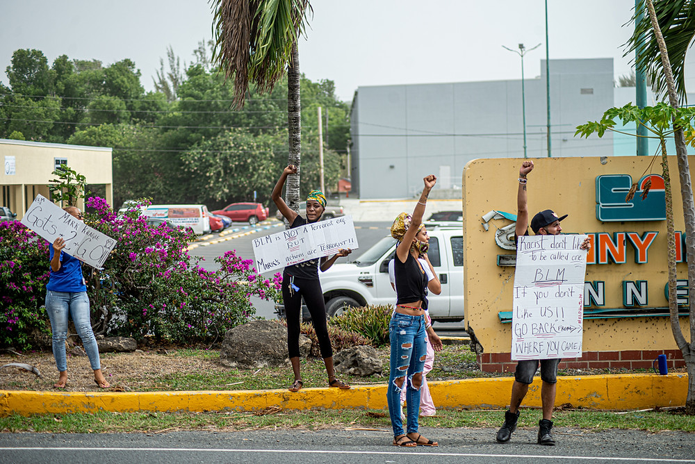 """Virgin Islanders on St. Croix took to the streets on Tuesday Morning, calling for the termination of Mark Kragel--Deputy General Counsel for WAPA--after making disparaging comments about """"Black Lives Matters."""" Residents also signed a petition to have Kragel fired."""
