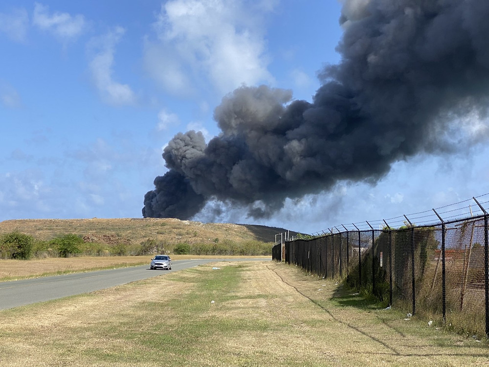The Anguilla Landfill was once again on Fire on Monday, May 18, 2020. Fires at the landfill have become a regular occurrence, putting the lives of residence in jeopardy from the toxic fumes.
