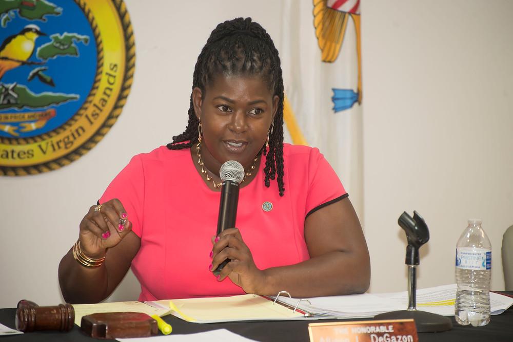 Virgin Islands Senator Allison DeGazon