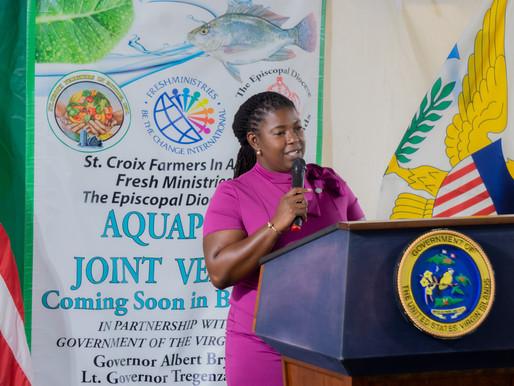 Sen. Allison DeGazon advances agriculture through aquaponics