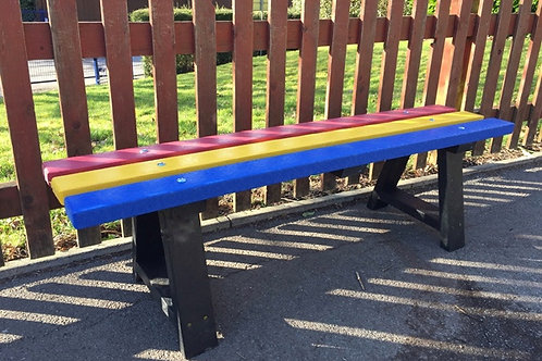 1500mm Multi Colour Backless Bench