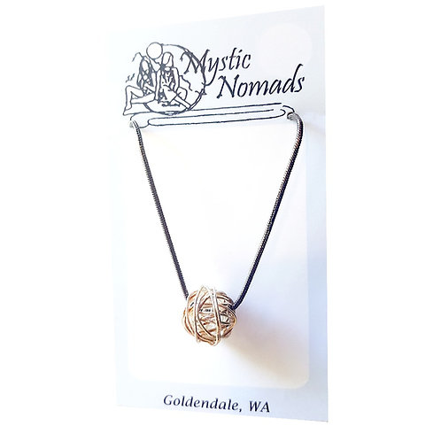 Sterling Ball Pendant Necklace