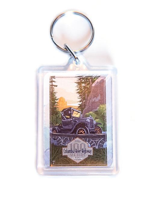 100th Anniversary Columbia River Highway Keychain