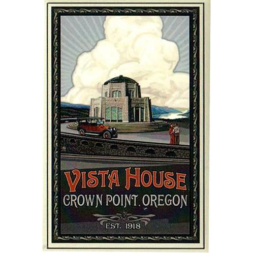 Vista House w/ Car at Crown Point