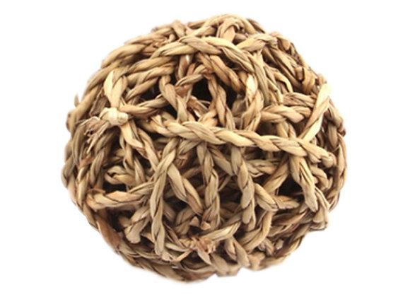 Игрушка для кролика мячик из плетеной соломы
