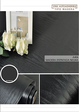 Madera Entintada Negra - A406