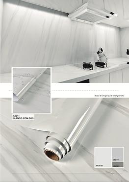Blanco con Gris- KE011