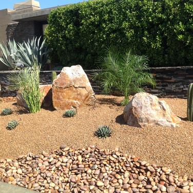 Gravel and Boulder Landscaping