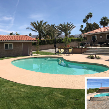 Palm Desert Backyard Redesign Before and After