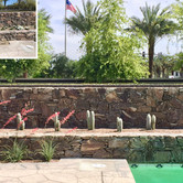Drought Tolerant Pool Accents Before and After