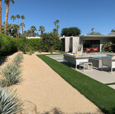 Poolside Artificial Turf and Gravel