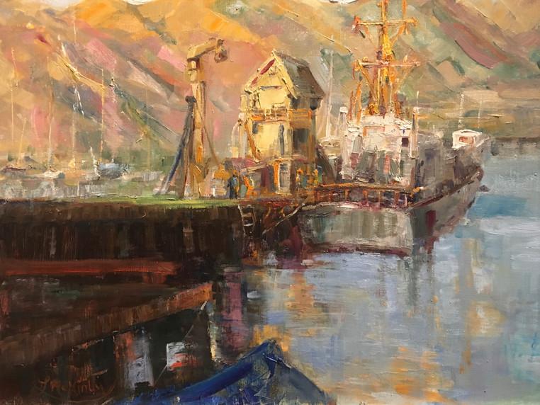Sunlit Summer Harbor