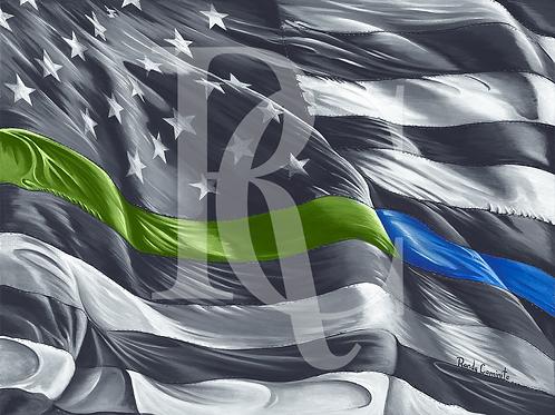 "Flag - ""Military & LEO"""