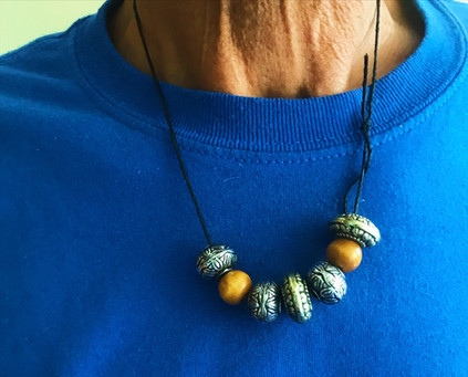 Silver Beaded Necklace- Anonymous