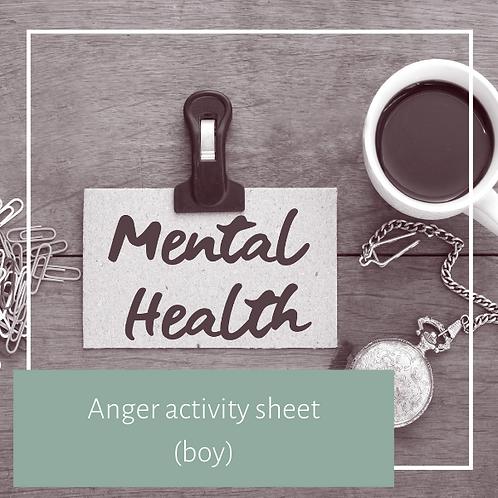 Anger Acticity Sheet (boy)