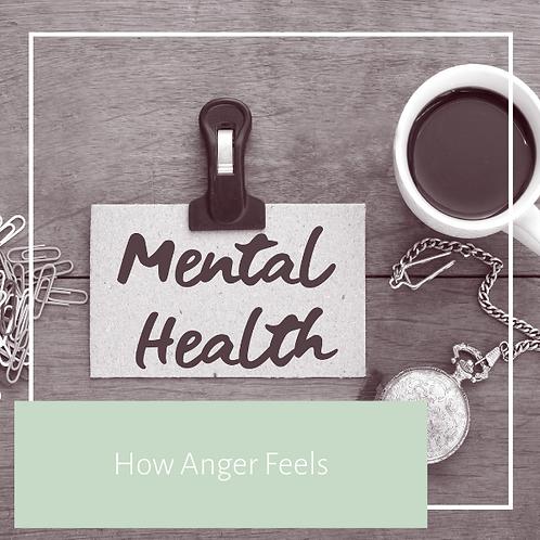 How Anger Feels