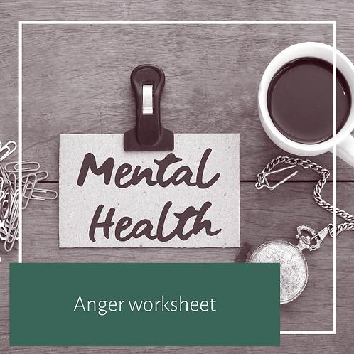 Anger worksheet