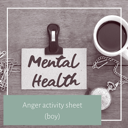 Anger activity sheet (boy)