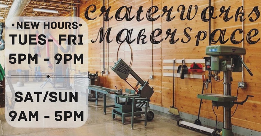 CraterWorks MakerSpace Hours