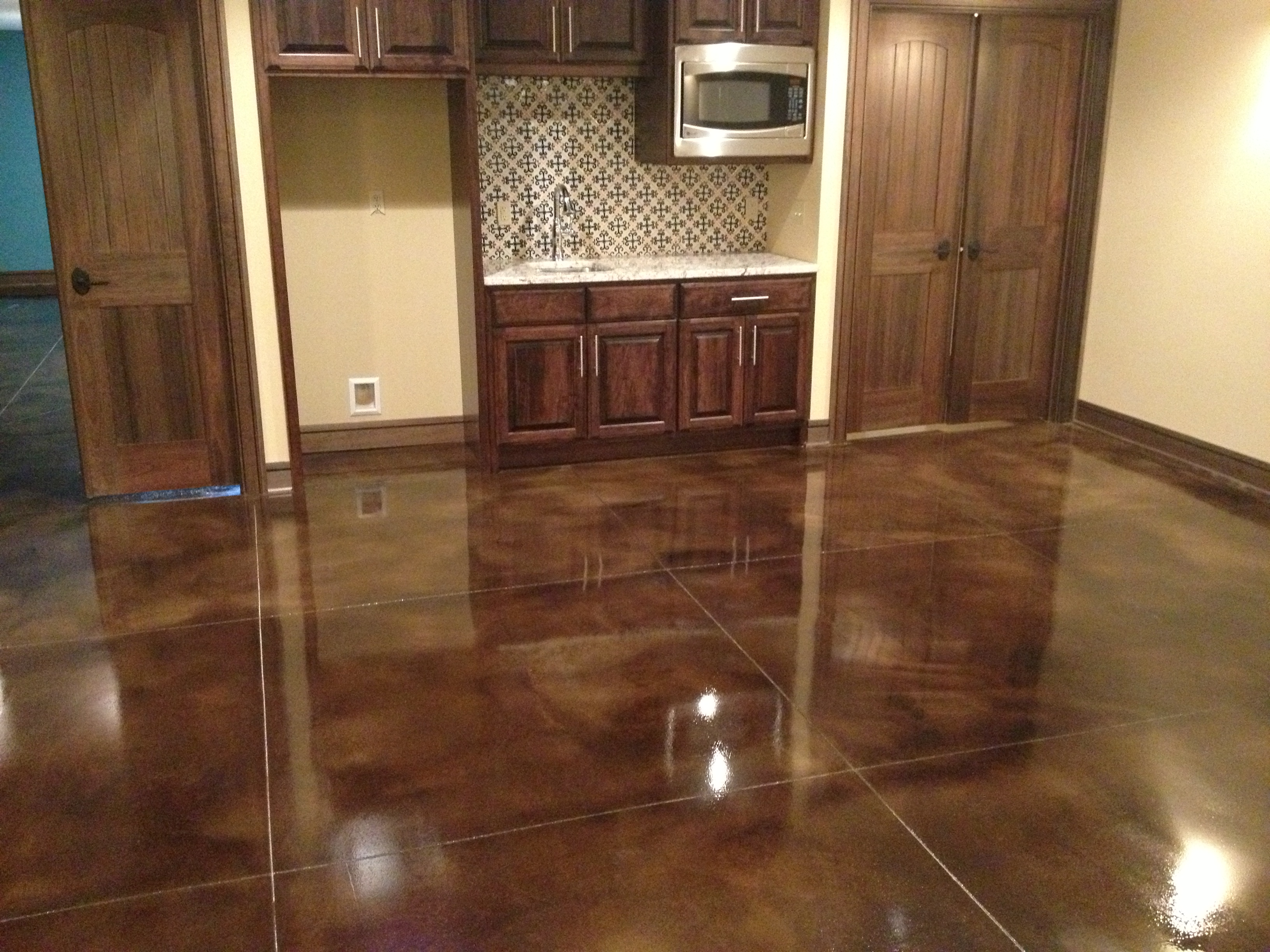 Stained Concrete C Rock Finishing
