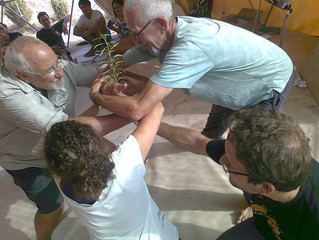 A permaculture workshop with Peppi at Earth Garden Festival.