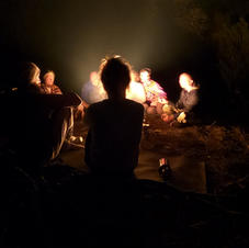 Enjoying a night by the fire