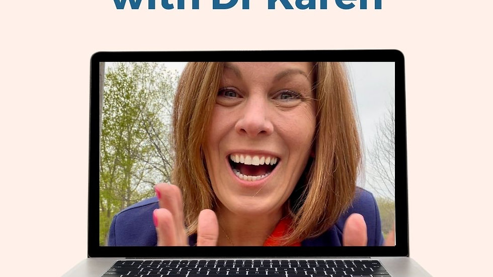1:1 consultation with Dr Karen