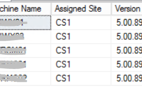 SQL Query to get the assigned site code and client version