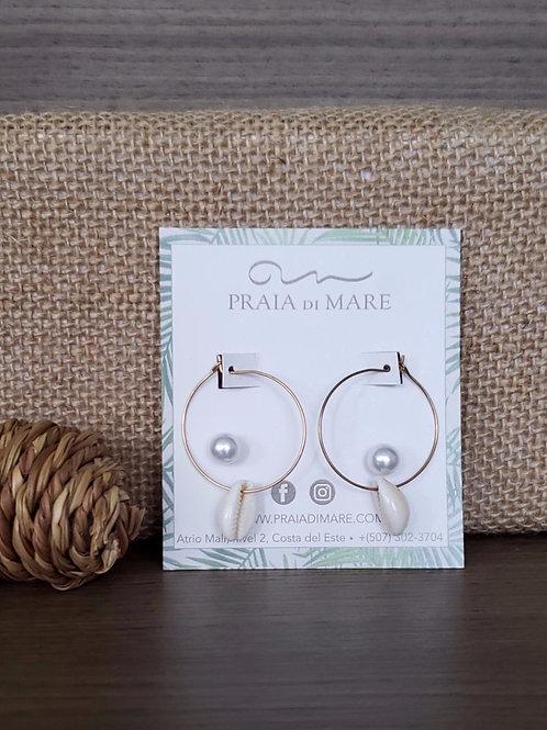 Set conchas y perlas aretes