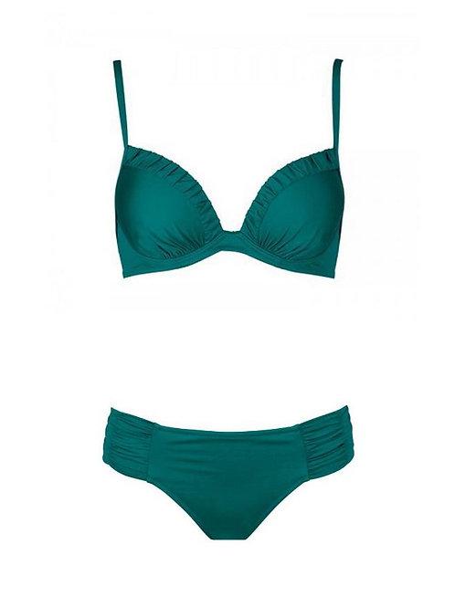 Bikini Verde solido 34C