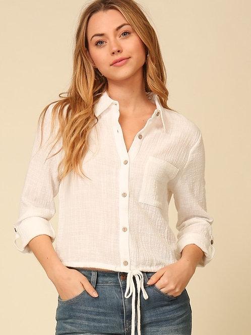 Buttom down white shirt