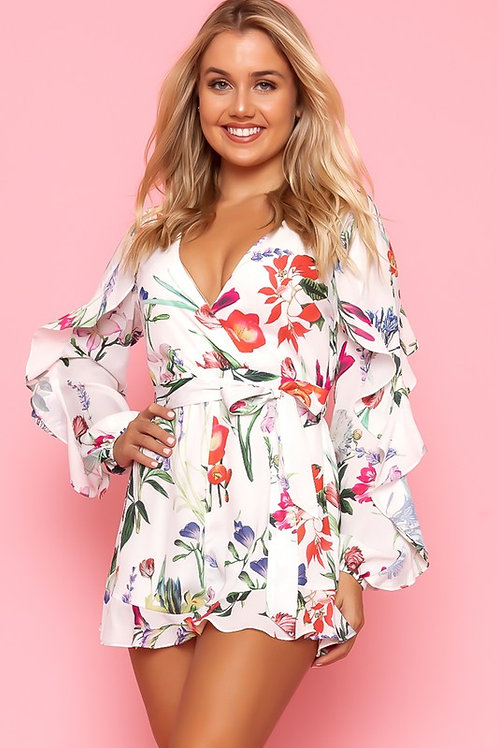 Playsuit White Floral