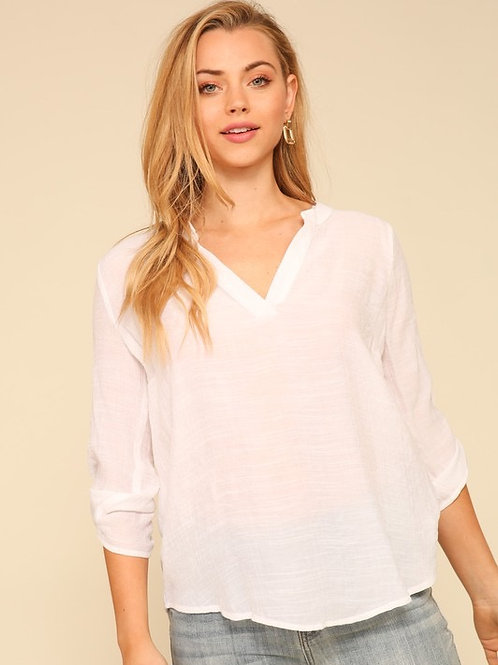 Blouse 3/4 white
