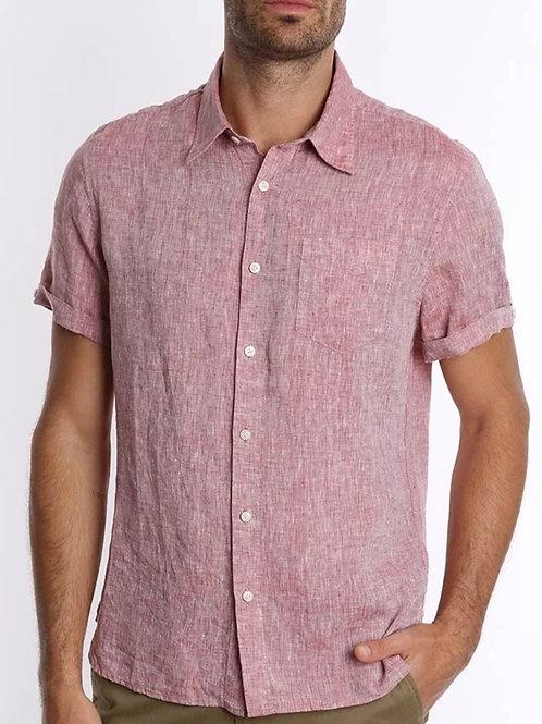 Red linen short sleeve