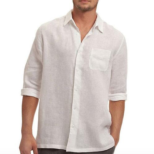 Classic white linen shirt