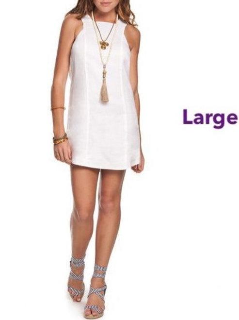 Aloha White Linen dress