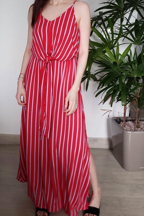 Red Combo Stripe dress