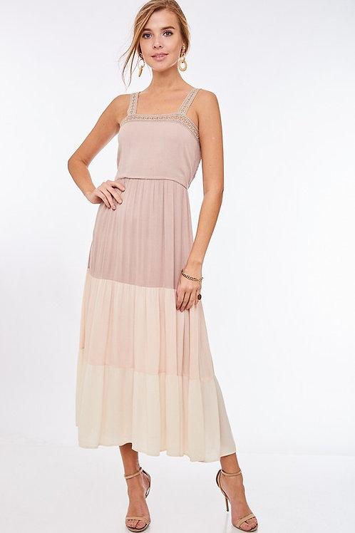 Blocked Beige dress
