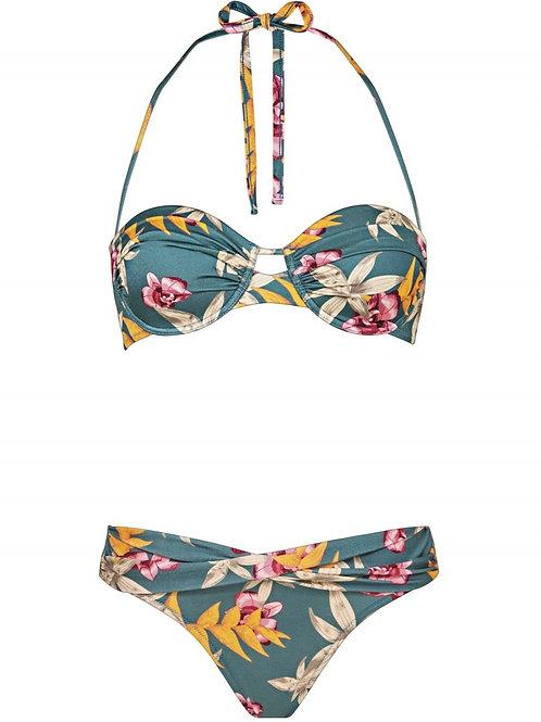Jungle tropics bandeau bikini