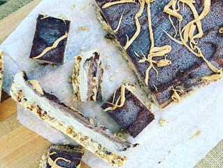 Chocolate, Espresso + Almond Butter Frozen Cheesecake