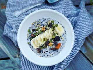 Quinoa + Rice Porridge with Chia Seeds and Banana