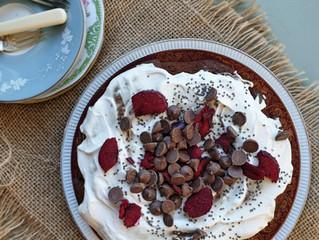Chocolate Banana + Date Cake ~ gluten- & dairy-free