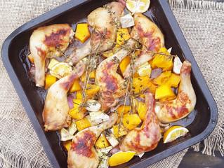 Crispy Chicken Legs with Honey, Lemon, Rosemary & Thyme