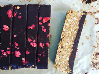 Tahini + Quinoa Chocolate Bars