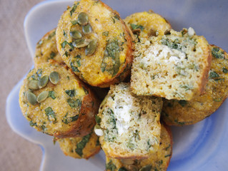 Quinoa, Feta + Parsley Muffins  ~ nut-free