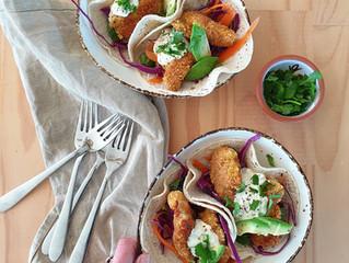 Crunchy Crumbed Chicken Tacos