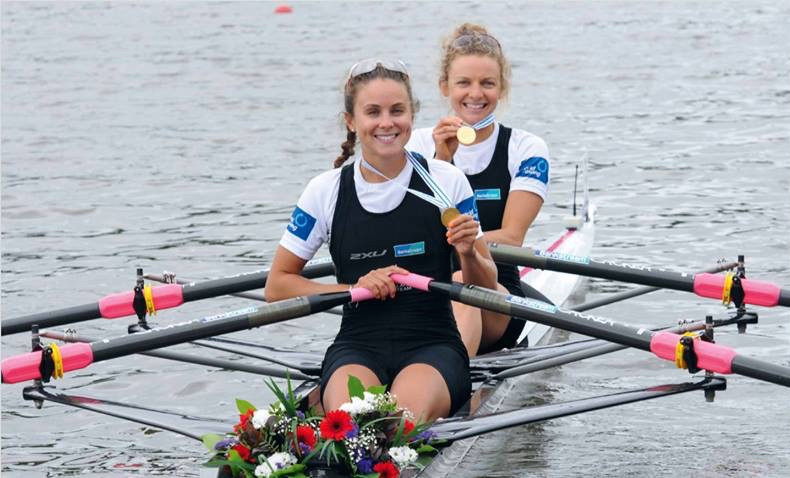 2014 World Rowing Championships with partner Julia Edward. Gold medal - lightweight women double in a World Best time, Amsterdam